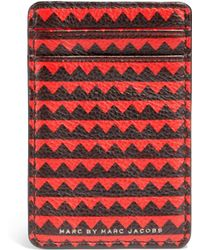 Marc By Marc Jacobs Zig Zag Leather Credit Card Case - Lyst