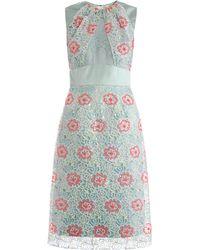 Erdem Alicia Embroidered Overlay Dress - Lyst