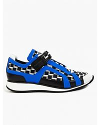 Pierre Hardy Men'S Cube Printed Sneakers black - Lyst
