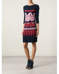 Vionnet Patterned Knit Dress - Lyst