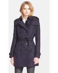 Burberry Brit - Women'S 'Reymoore' Trench Coat With Detachable Hood & Liner - Lyst