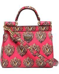 Dolce & Gabbana Mini Sicily Sacred Heart Leather Bag - Lyst