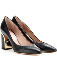 Chloé Beckie Leather Pumps - Lyst