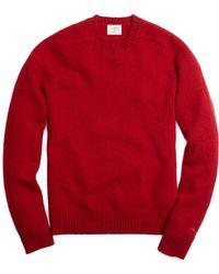 Brooks Brothers Shetland Crewneck Sweater - Lyst