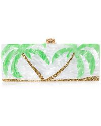 Edie Parker Flavia Palm Trees Box Clutch - Lyst
