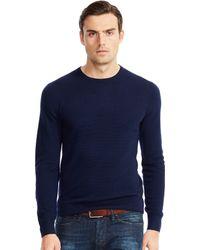 Ralph Lauren Black Label Textured Merino Wool Sweater - Lyst