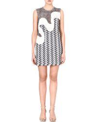 Stella McCartney Fringe Detail Woven Dress - Lyst