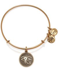 ALEX AND ANI Eye Of Horus Ii Expandable Wire Bangle - Lyst