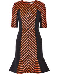Matthew Williamson Paneled Matelassã and Jacquard Dress - Lyst