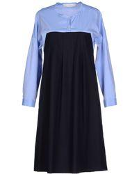Tela Knee-Length Dress blue - Lyst