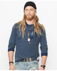 Denim & Supply Ralph Lauren Indigo-Dyed Striped Henley Shirt - Lyst