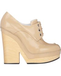 Jil Sander Spazzolato Lace-Up Platform Booties - Lyst