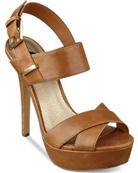 G by Guess Women'S Dacey Two-Piece Slingback Platform Sandals - Lyst