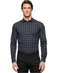 Calvin Klein Blown-Up Pencil Plaid Shirt black - Lyst