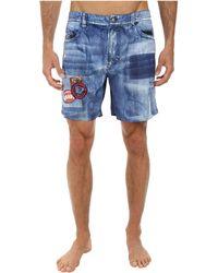 Diesel Red Beach Shorts - Lyst