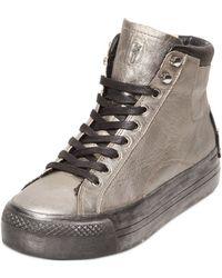 Crime 40Mm Metallic Calf High Top Sneakers - Lyst