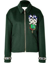 Mary Katrantzou Embroidered Bomber Jacket - Lyst