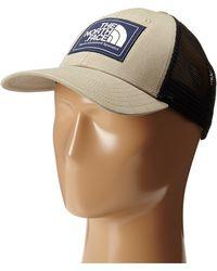 The North Face Mudder Trucker Hat W/ Logo Patch beige - Lyst