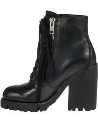 Ash Poker Ankle Boot Black Leather - Lyst
