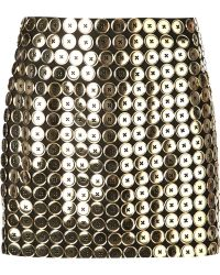 Moschino Button Embellished Mini Skirt - Lyst