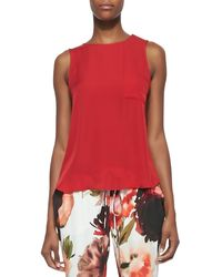 Haute Hippie Sleeveless Flyawayback Pocket Top - Lyst