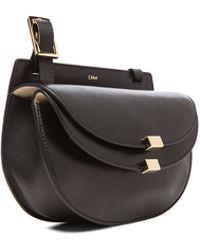 Chloé - Mini Georgia Lambskin & Grain Leather Bag - Lyst