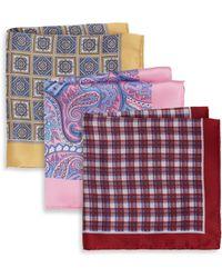 Burma Bibas Printed Silk Pocket Square Gift Set