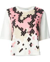 3.1 Phillip Lim Geometric Snake Print Oversize T-Shirt - Lyst