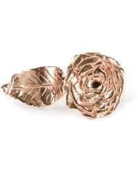 Leivan Kash - Rose Leaf Ring - Lyst