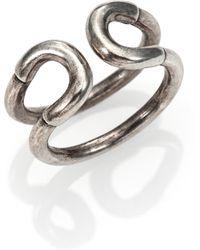 Giles & Brother Mini Cortina Ring/Silvertone - Lyst