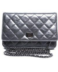 Chanel Pre-Owned Metallic Lambskin Reissue Woc Wallet On Chain - Lyst