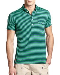 Polo Ralph Lauren Striped Jersey Polo green - Lyst
