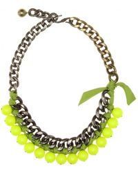 Lanvin - Beaded Chainlink Necklace - Lyst
