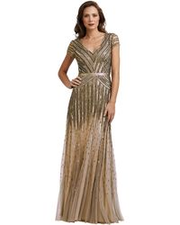 Adrianna Papell Petite Sequin Cap Sleeve Dress - Lyst