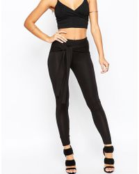ASOS | Leggings With Tie Front | Lyst