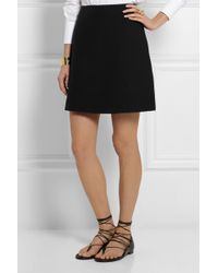 Valentino Wool and Silk-blend Crepe Mini Skirt - Lyst