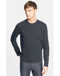 James Perse Long Sleeve Crewneck T-Shirt - Lyst