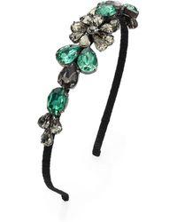 Marni - Embellished Silk Headband - Lyst