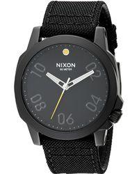 Nixon The Ranger 45 Nylon black - Lyst