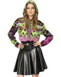 Versace Printed Viscose Jersey Jacket - Lyst