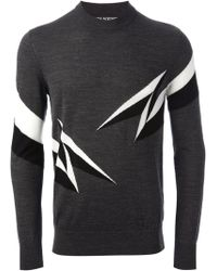 Neil Barrett Lightning Bolt Sweater - Lyst