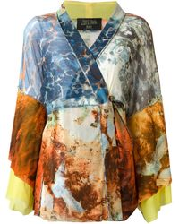 Jean Paul Gaultier Printed Kimono Top and Matching Wrap Skirt - Lyst