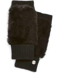 Spyder - Faux Fur Fingerless Gloves - Lyst