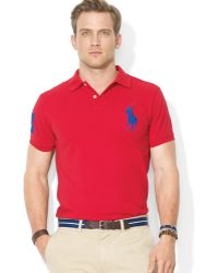 Ralph Lauren Polo Customfit Big Pony Bright Mesh Polo - Lyst