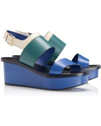 Tory Burch Essex Wedge Sandal - Lyst