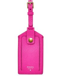 Fossil - Leather Luggage Tag - Lyst