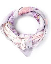 Nina Ricci Purple Patterned Scarf - Lyst