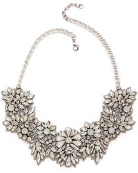 Deepa Gurnani | Crystal Floral Necklace - Ivory | Lyst