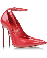 Casadei Red Closed Toe - Lyst