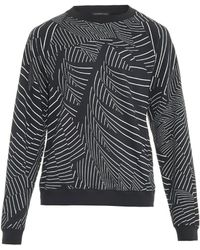 Christopher Kane Abstract-stripe Cotton-jersey Sweatshirt - Lyst